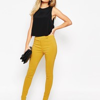 ASOS High Waist Trouser in Skinny Fit at asos.com