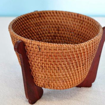Small Round Rattan Basket