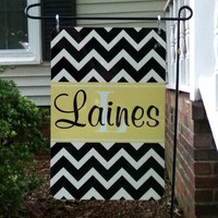 Personalized Metal Flag in Chevron