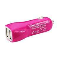 CAR CHARGER 2A5V DUAL USB CHARGER PINK