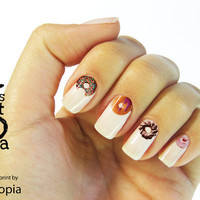 Donut Water Transfer Nail Sticker