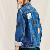 Urban Renewal Recycled Allover Patch Denim Jacket