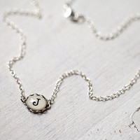 Initial jewelry - Personalized Monogram necklace - Initial necklace - Bridesmaids jewelry (N084)