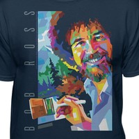 Bob Ross The Joy of Painting Official Geo T-shirt