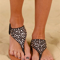 RAMPAGE By The Seashore Studded Sandals - Black