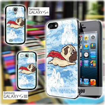 Flying Pug 1215 Design iPhone 4, iPhone 4s, iPhone 5, iPhone 5s, iPhone 5c, Samsung Galaxy S3, Sasmsung Galaxy S4 Case