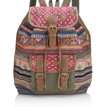 Pioneer Braided Backpack | Multi | Accessorize