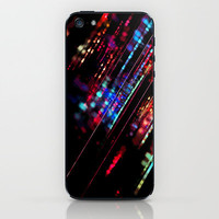 Meteor Rainbow iPhone & iPod Skin by Ally Coxon | Society6