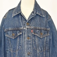 80s Levis Denim Trucker Type 3 Jacket Youth Large
