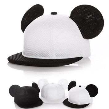 DKLW8 Baby kids boy girl Fashion Mickey hat baseball cap accessoire bonnet bebes chapeau garcon fille touca gorro Two sizes