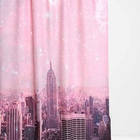 Bianca Green For DENY Stardust Covering New York Shower Curtain- Pink One