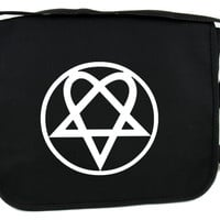 Heartagram HIM Messenger Bag Cross Body Bags Gothic Rock Clothing Ville Valo