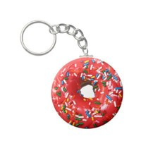 Donut Keychain from Zazzle.com