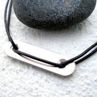 Mens Necklace Mens Leather Necklace Geometric Necklace Hardware Jewelry