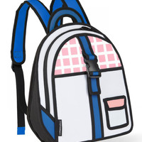 Pink Checked Backpack