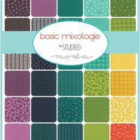 "Basic Mixologie Layer Cake by Studio M for Moda Fabrics, 10"" Squares"