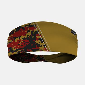 Arsenal Gold Maroon Black Camo Headband