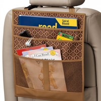 Back Seat Organizer Diamond Brown