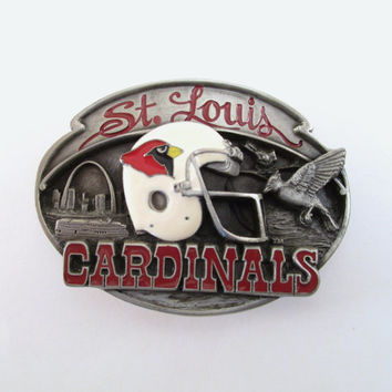1987 St. Louis Cardinals Belt Buckle, Vintage Football Buckle, NFL Licensed Buckle, Limited Edition, Sports Belt Buckle, Father's Day Gift