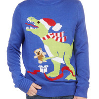 Long Sleeve T-Rex the Halls Menb