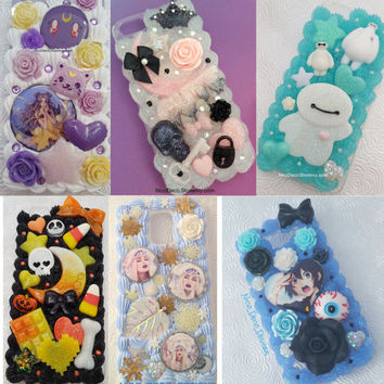 Custom decoden whipped cream style handmade phone case