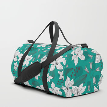 Avery Aqua Duffle Bag by Heather Dutton