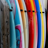 Colorful Row of Surfboards Ocean City Maryland Fine Art Photograph | BaysidePhotography - Photography on ArtFire