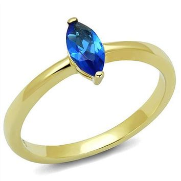 WildKlass Stainless Steel Ring IP Gold(Ion Plating) Women Synthetic Montana