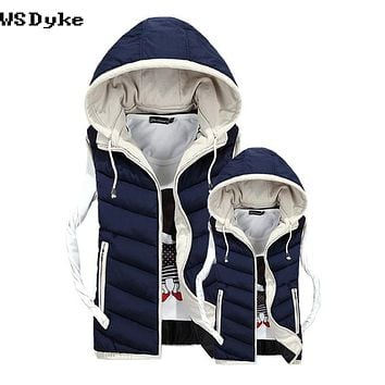Autumn Winter Casual Hooded Men Thick Waterproof Couple Winter Jackets