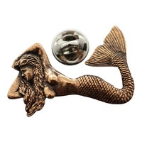 Mermaid Pin ~ Antiqued Copper ~ Lapel Pin