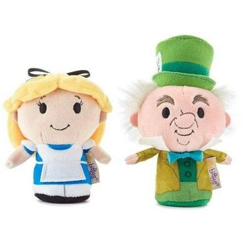 itty bittys Disney Alice in Wonderland and Mad Hatter Stuffed Animals, Set of 2