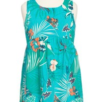 Toddler Girl's Roxy 'Over Seas' Floral Print High/Low Dress