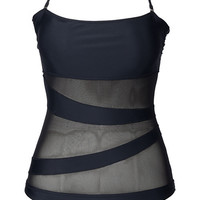 Cupshe Chic Lady Mesh Splicing Halter Swimsuit