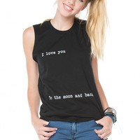Brandy ♥ Melville |  I Love You To The Moon And Back Tank - Graphics