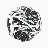 Women's PANDORA 'Mystic Floral' Bead Charm - Silver/