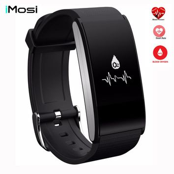 IMOSI A58 Smart Band Bracelet Blood Pressure Watch Heart Rate