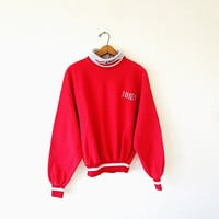 Vintage UNLV Rebels University of Nevada Las Vegas Collegiate Turtleneck Pullover Sweatshirt Sz XL