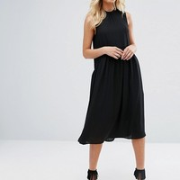 Y.A.S High Neck Midi Dress at asos.com