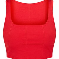 Red Bandage Crop Top