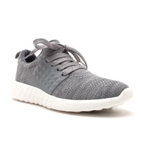 On The Run Athletic Tennis Shoes In Charcoal Grey