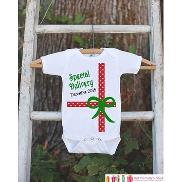 Christmas Outfit - Special Delivery Christmas Onepiece - Newborn Christmas Outfit - Christmas Baby Birth Announcement - Christmas Gift