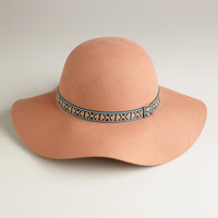 Tan Floppy with Jacquard Band Hat - World Market