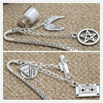 Supernatural inspired Bookmark  Dean Winchester  theme charm Bookmark Geeky Gift