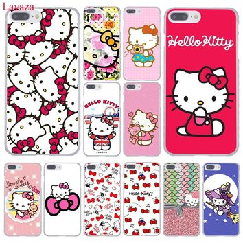 Lavaza Fashionable Hello Kitty Hard Phone Case for Apple iPhone XR XS Max X 8 7 6 6S Plus 5 5S SE 5C 4S 10 Cover 8Plus Cases