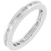 Silvertone White Eternity Ring, size : 07
