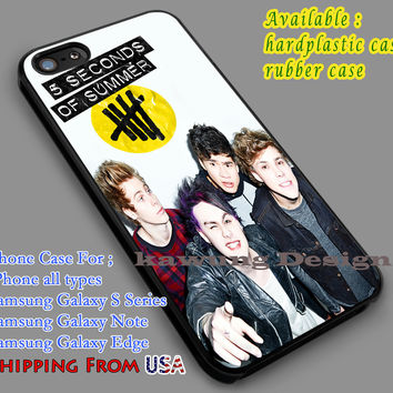 Cheerful 5SOS Band iPhone 6s 6 6s+ 5c 5s Cases Samsung Galaxy s5 s6 Edge+ NOTE 5 4 3 #music #5sos dl7