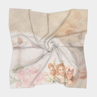 Timeless Victorian Collage Square Scarf