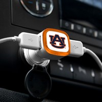 NCAA Auburn Tigers Car Charger, White