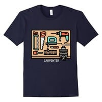 Carpenter Tools Construction Graphic Tee Gift For Carpenter