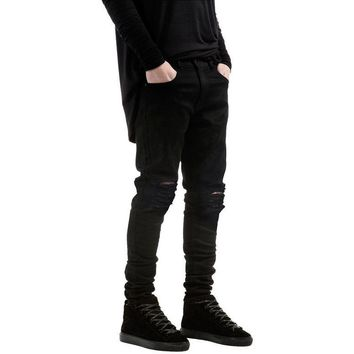 Distressed Ripped Slim Fit Pants